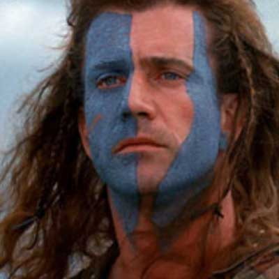 guess the 90s answers Braveheart